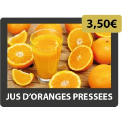 JUS D'ORANGES PRESSEES